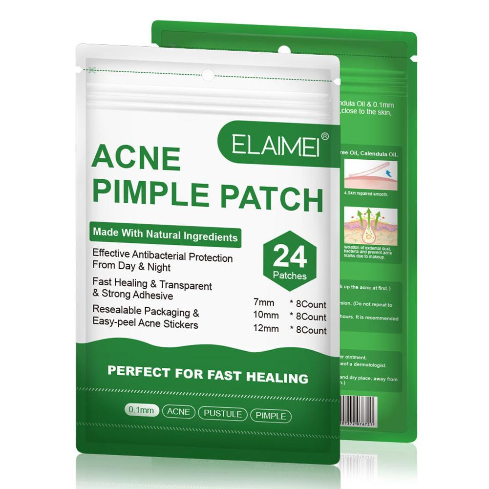 24Pcs Invisible Acne Removal Pimple Patch Can Absorb Acne Secretions Effectively Acne Patches Fast Healing Suitable For Night