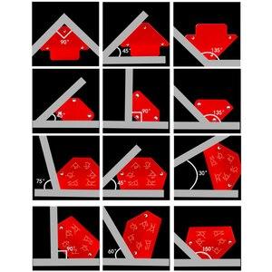 Image 2 - 6 sztuk/zestaw trójkąt pozycjoner spawalniczy magnetyczny stały kąt lutowania lokalizator narzędzie bez przełącznika akcesoria spawalnicze
