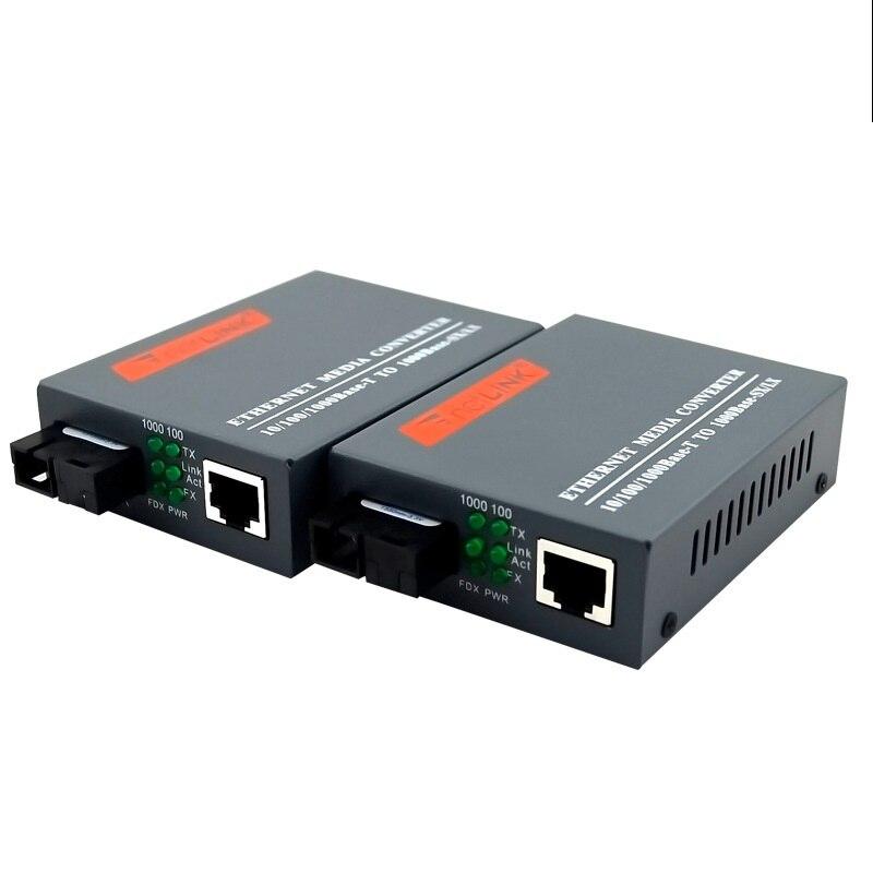 1 pair 10/100/1000Mbps 25KM Media converter Fibra Optica Transceiver FTTH optic fiber gigabit Conversor de Fibra SM