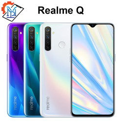 Перейти на Алиэкспресс и купить realme q mobile phone 6.3дюйм. full screen 4gb ram 64gb rom snapdragon 712 aie android 9.0 48.0mp four cameras smartphone