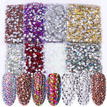 1440 PCS/Bag Nail Art 3D DIY Decorations Regular AB Colorful 5mm Nail Rhinestones Flat Bottom For Nails 3D nail art gems hot sale 2000pcs 1 5mm nail art decorations 3d clear transparent round glitter diy nails sticker rhinestones beauty tools me88