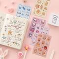 Mohamm 1 шт Pet Материал Милые Kawaii наклейки ручной учётной записи декоративные наклейки студенческие принадлежности