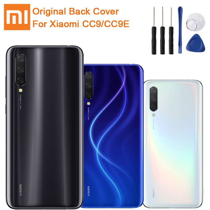 Xiao <font><b>Mi</b></font> Original <font><b>Battery</b></font> Glass Back Cover Door For Xiaomi <font><b>Mi</b></font> CC9 <font><b>Mi</b></font> CC9E Rear Housing Protective Back Cover Case image