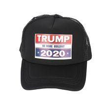 Кепка Трампа с буквенным принтом, сетчатая Кепка, головной убор, спортивная одежда для улицы с регулируемой застежкой сзади, американский президент