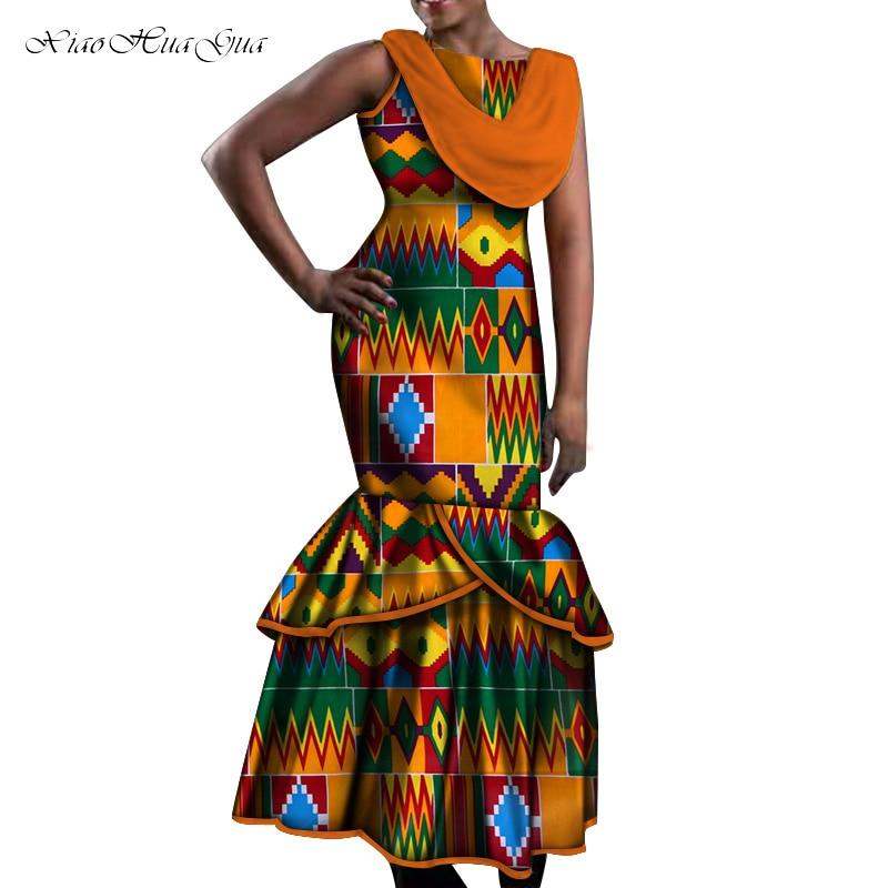 African Dresses For Women Party Wedding Sexy Date Dashiki African Women Mermaid Dresses 2020 Trend Ankara Dress Plus Size WY5535