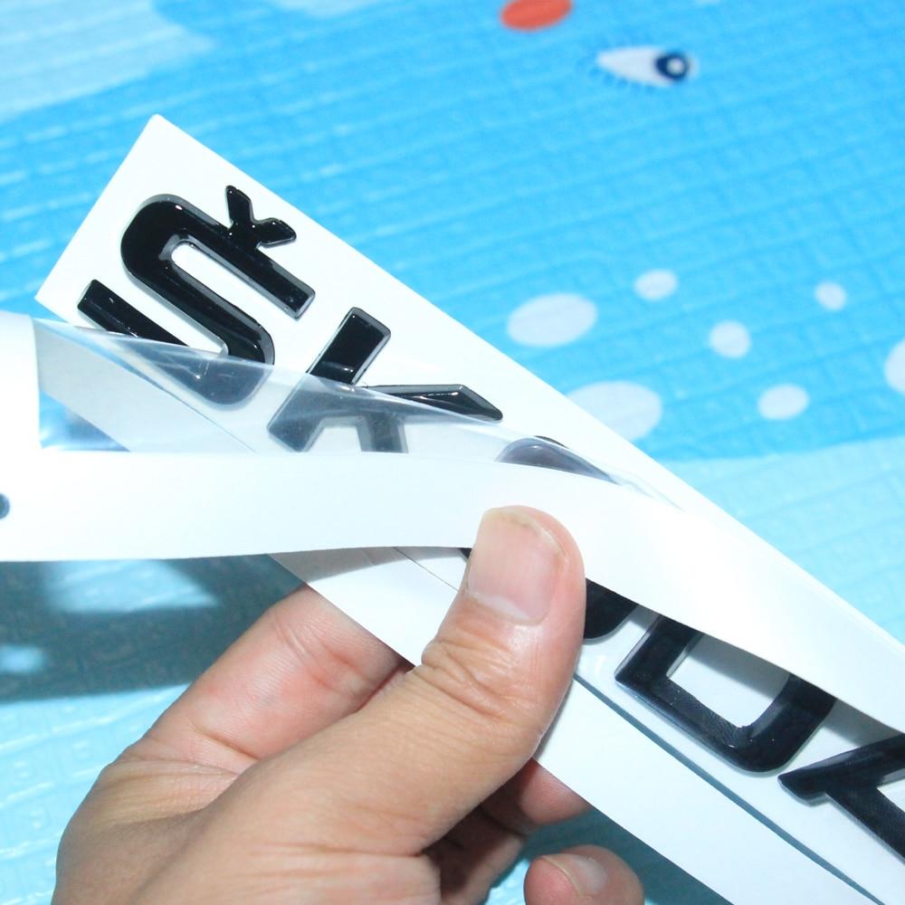 Наклейка Glosse с черной эмблемой для Skoda FABIA OCTAVIA SUPERB KODIAQ KAMIQ RAPID YETI SKODA наклейка на задний багажник ABS