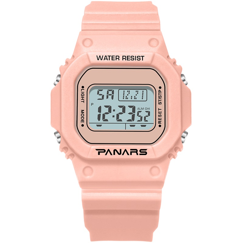 PANARS Women Digital Watch Men Sport Electronic Fashion Swim Waterproof Comfortable Square Shock Resistant  Wristwatch