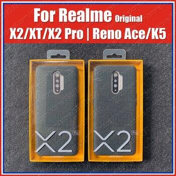 Перейти на Алиэкспресс и купить Официальный 100% Оригинальный чехол Realme X2 Pro iconic XT X2 OPPO Reno Ace K5, задняя крышка Global Soft Rubber Bumper 12 Гб 256 ГБ