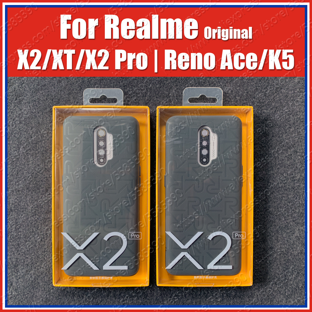 Official 100% Original Realme X2 Pro Case Iconic XT X2 OPPO Reno Ace K5 Back Cover Global Soft Rubber Bumper 12GB 256GB