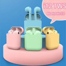 i12 tws Bluetooth Earphone Wireless Earbuds Hands free Earpieces Sport Headset Macaroncolor 3Dstereo sound Perfect quality