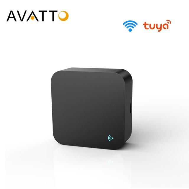 AVATTO S06 جهاز تحكم عن بعد صغير واي فاي الأشعة تحت الحمراء لمكيف الهواء التلفزيون ، أتمتة المنزل الذكي العالمي للتحكم عن بعد اليكسا ، جوجل المنزل