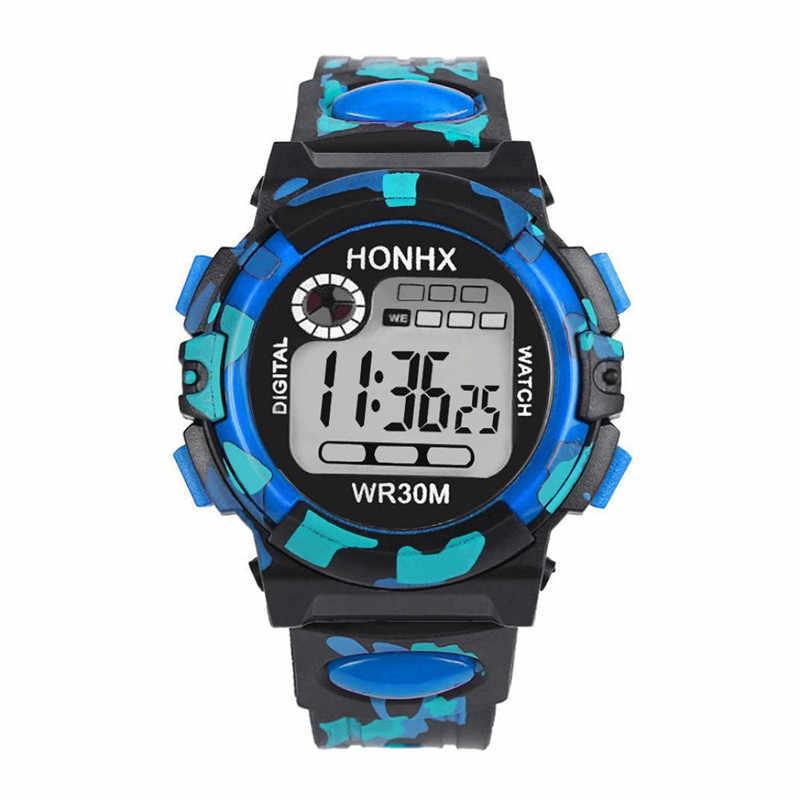 2019 ילדים עמיד למים שעון ילדים ילד ילד ילדה תכליתי עמיד למים ספורט אלקטרוני שעון שעונים בחר מתנה עבור ילד