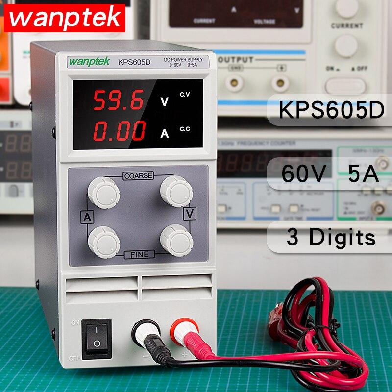 60V 5A réglable laboratoire alimentation 3 bits affichage DC alimentation charge réparation commutation alimentation régulateur de tension