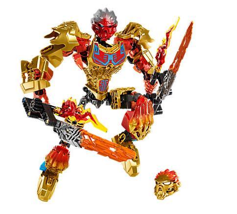 Bevle xsz 611-1 bioquímico guerreiro bioniclemask de luz bloco de construção de fogo bionicle tahu compatível com bela 71308 brinquedos