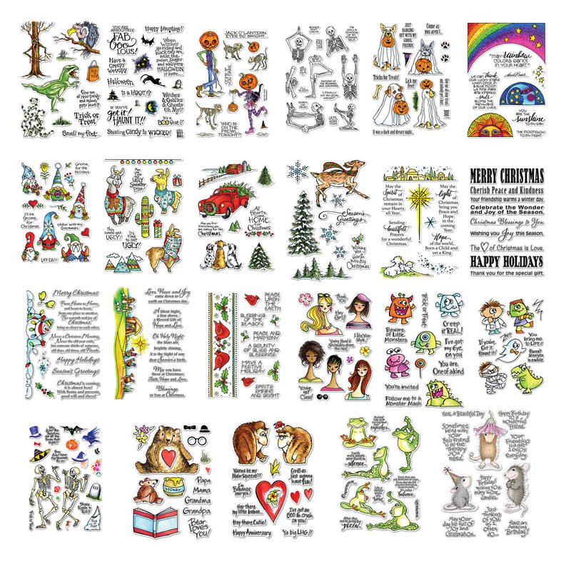 Halloween Christmas Element Animals Transparent Silicone Clear Stamp for Scrapbooking DIY Craft Decoration Soft Stamp New 2019 in Stamps from Home Garden