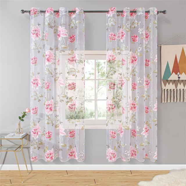 Floral Window Curtains 3