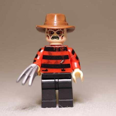 American Horror Movie FreddyKrueger Nightmare On Elm Krueger Street Blocks Toys