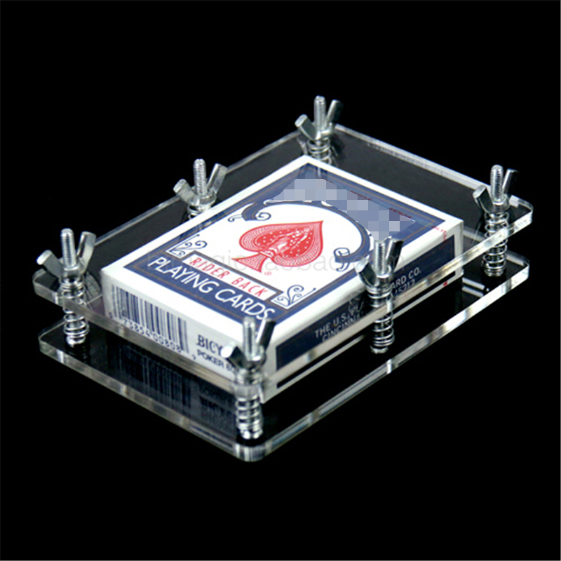 Crystal Card Press - Crystal Card Flatten Restore Deformation Not Include Playing Card Magic Tricks Accessory Gimmick
