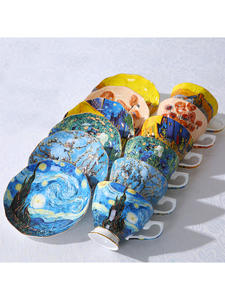 Tea-Cups Coffee-Mugs Sower Van Gogh Night-Sunflowers Irises New The Art-Painting Starry