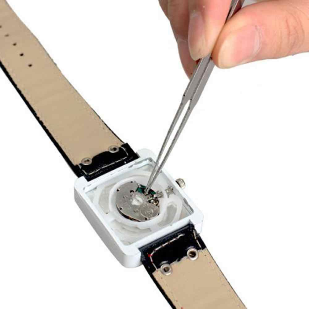 6Pcs ESD Antistatik Pinset Set Alat Presisi Tinggi Tip Melengkung Lurus Penjepit Stainless Multifungsi Nipper Alat Perbaikan Kit