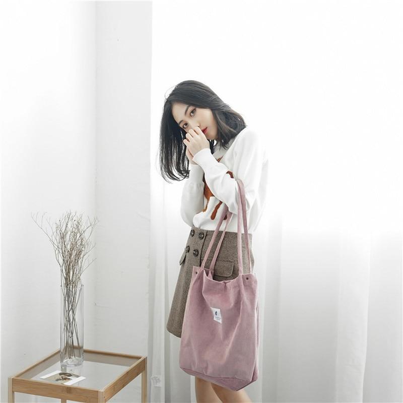 Geantă de cumpărături din velur pentru femei geantă de umăr din - Genți - Fotografie 6