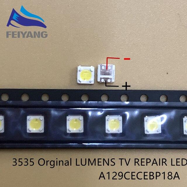 2000 stücke LUMEN LED SMD 3535 3537 1W 3V Kühles weiß Lcd hintergrundbeleuchtung für TV A129CECEBP19C 4JIAO