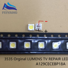2000pcs LUMENS LED SMD 3535 3537 1W 3V Cool white LCD Backlight for TV A129CECEBP19C 4JIAO