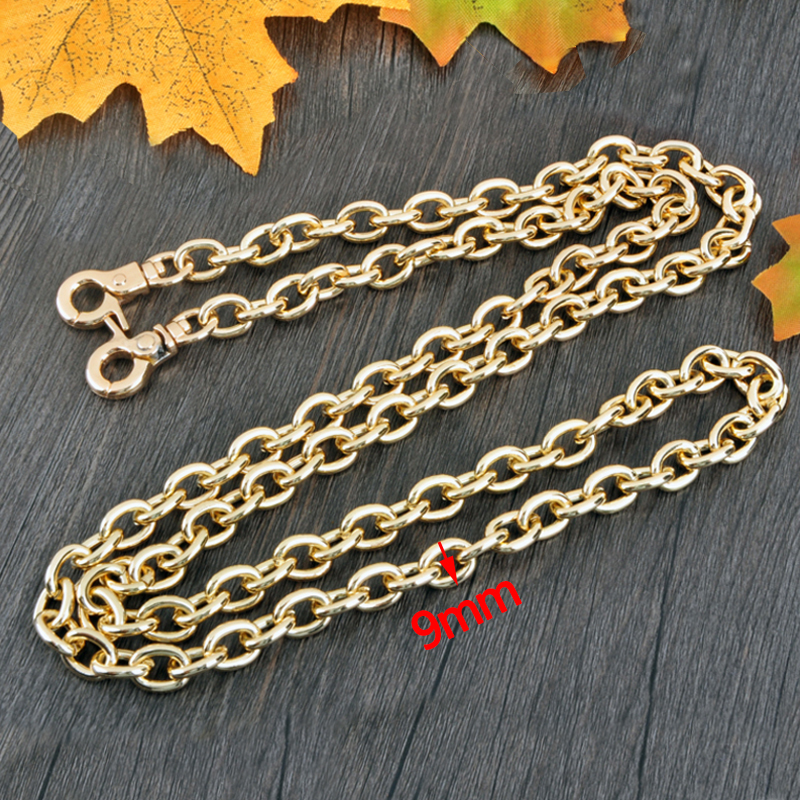 DIY 9mm Gold, Silver, Gun Black O Shape Bag Chain Replacement Shoulder Crossbody Bag Straps for Handbags Belts Handles