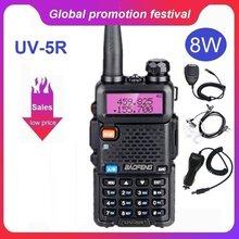 Бесплатная доставка Baofeng UV-5R Радио Walkie Talkie UHF, Портативный Полиция Сканер радио Intercome HF трансивер баофенг 5R UV5R