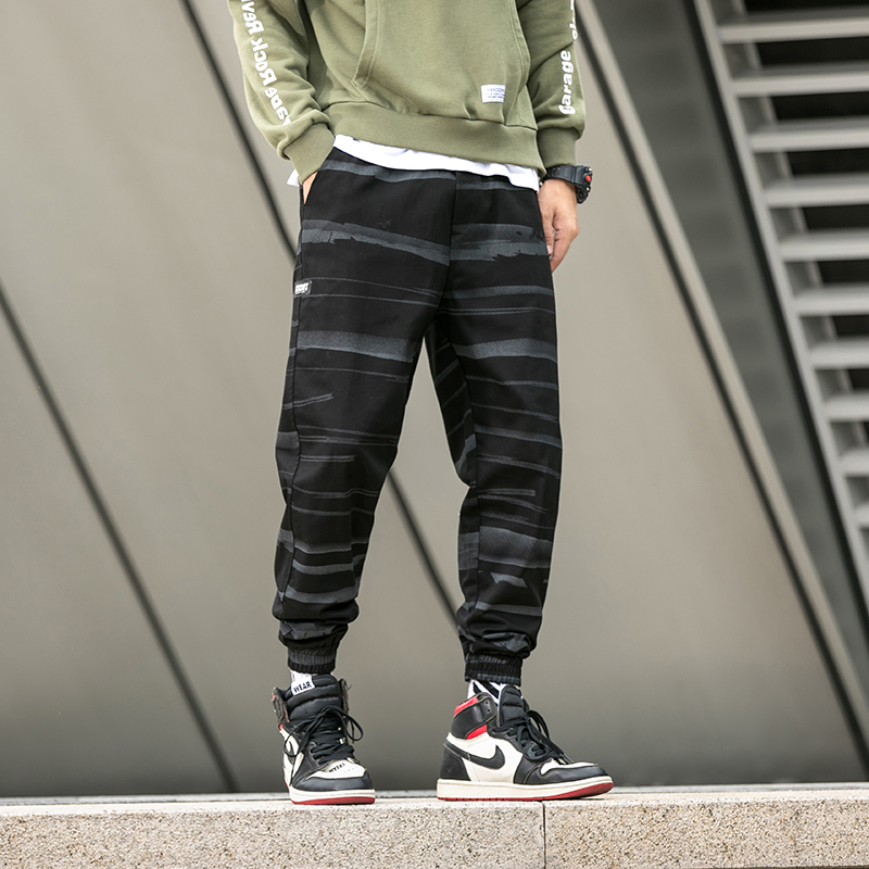 New Fashion Men Streetwear Cargo Pants Spring Autumn Hip Hop Joggers Pants Overalls Black Fashions Loose Men Trousers