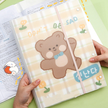 Yisuremia 40 Pages Cartoon File Folder Organizer For Test Paper Document A3 File Holder Bag Kawaii School Office Stationery