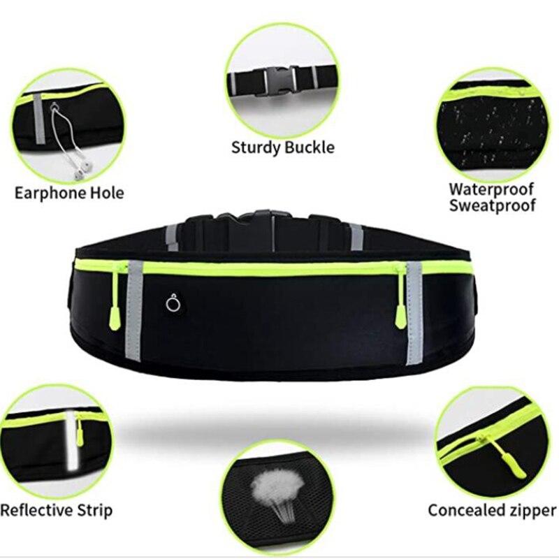 da cintura bolso jogging portátil impermeável ciclismo