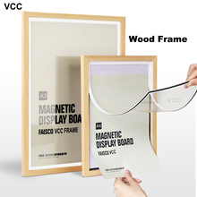 Nature Wooden Magnetic Photo Picture Frame A4 A3 Wood Color Certificate with Mats for Wall Poster
