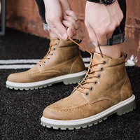2019 Men Iron Nose Anti puncture Safety Shoes Military Combat Men's High Top Steel Toe Cap Anti Smashing Work Boots Shoes SA 8