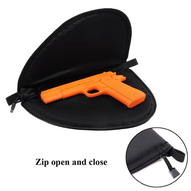 Tactical  Gun Pistol Protector Cover Holster Pistol case Pistol Zipper Storage Case Fit Medium Handgun Gun Bag Key Bag Storage b 1