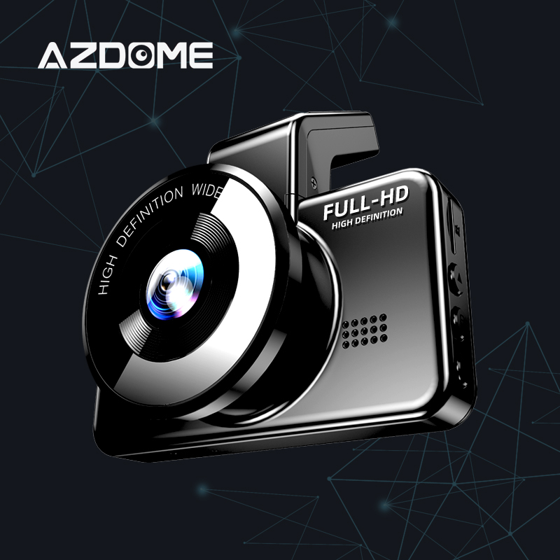 Original AZDOME M17 Dash Cam 1080P HD Night 24H Parking Monitor Video Recorder Night Vision WiFi Car DVR Dual Lens Car Camera 1