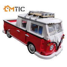BuildMOC-23519 VW T1 Doka \u002810220 alternate\u0029 Building Blocks 1048pcs Diy Toys Bricks Educational