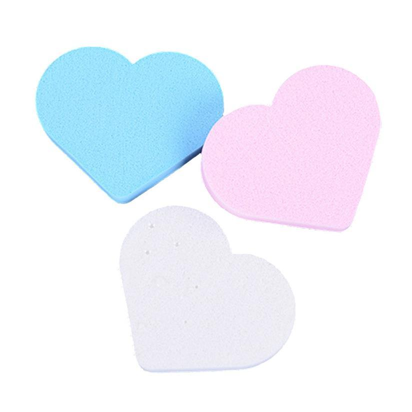 Creative Love Makeup Sponge Makeup Remover Puff Natural Latex Makeup Dry Puff Beauty Makeup Tool 4 Pack in Cosmetic Puff from Beauty Health