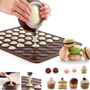 Macaron cozimento decoração caneta pastelaria creme bolo muffin 3 bocal conjunto kit silicone