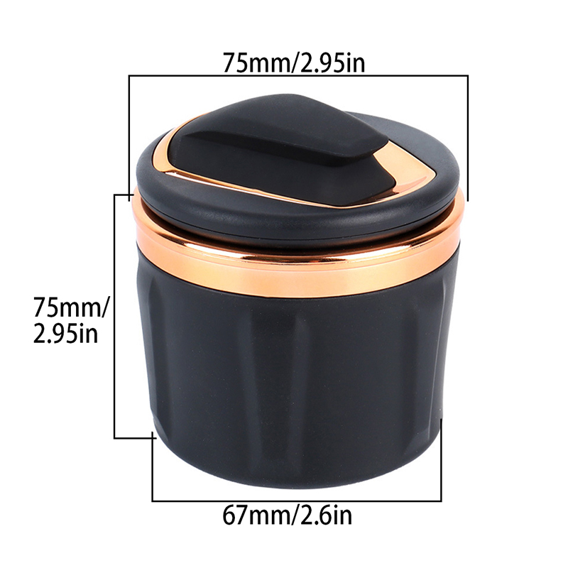 lowest price YOLU Car Ashtray Holder Cup Universal Portable lager-caliber High Flame Retardant small mini Ashtray