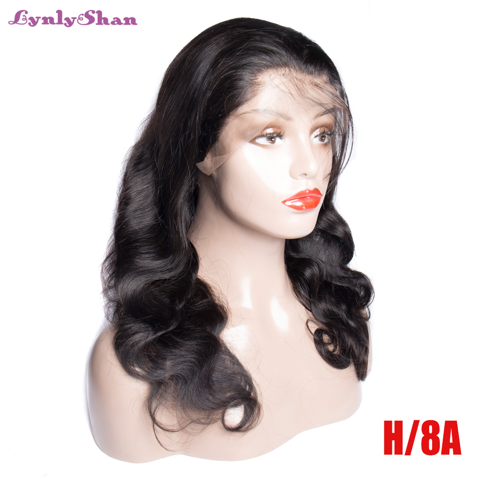 Wigs for women Lace Front Human Body Hair Wigs Indian Remy Hair 150% Density 13*6 Lace Front Wigs Natural Color Lynlyshan