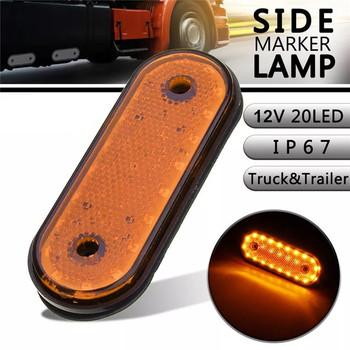 20LED 12V światła samochodów ciężarowych przyczepy kempingowej lampy przyczepy włącz sygnał do ciężarówek obrysówki LED światła światła boczne do ciężarówek światła sygnalizacyjne do przyczep tanie i dobre opinie Plasctic 11 5*4 3CM CA422-12V-Y Inne side marker light lights truck led clearance lights trailer marker lights for trailers