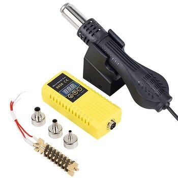 JCD Hot air gun 700W Micro Rework soldering station 8858 LED Digital Hair dryer for Heat Gun welding repair tools
