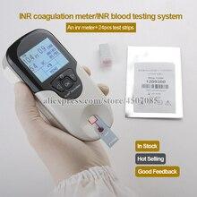 CE belgelendirme profesyonel kullanımı el fiyat INR metre pıhtılaşma ile INR kan test sistemi ve 24 adet PT metre şerit