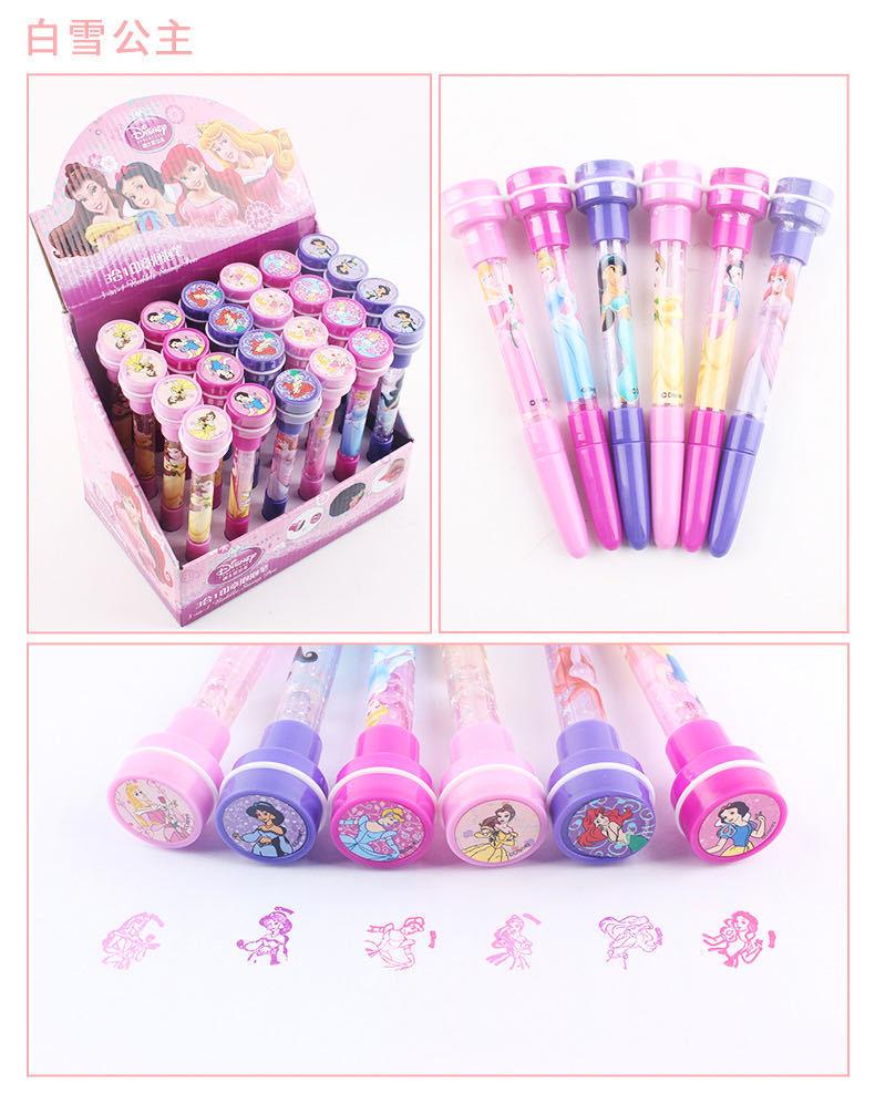 Disney Unisex Bubble Pen Ballpoint Pen Mickey Frozen Princess Seal Office Student Painting Children's School Supplies Gift Prize