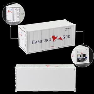 Image 2 - 6pcs שונה מעורב 20ft היי קוביית Refrigerater 1: 87 20 רגליים מכולות דגם משא מיכל מכוניות