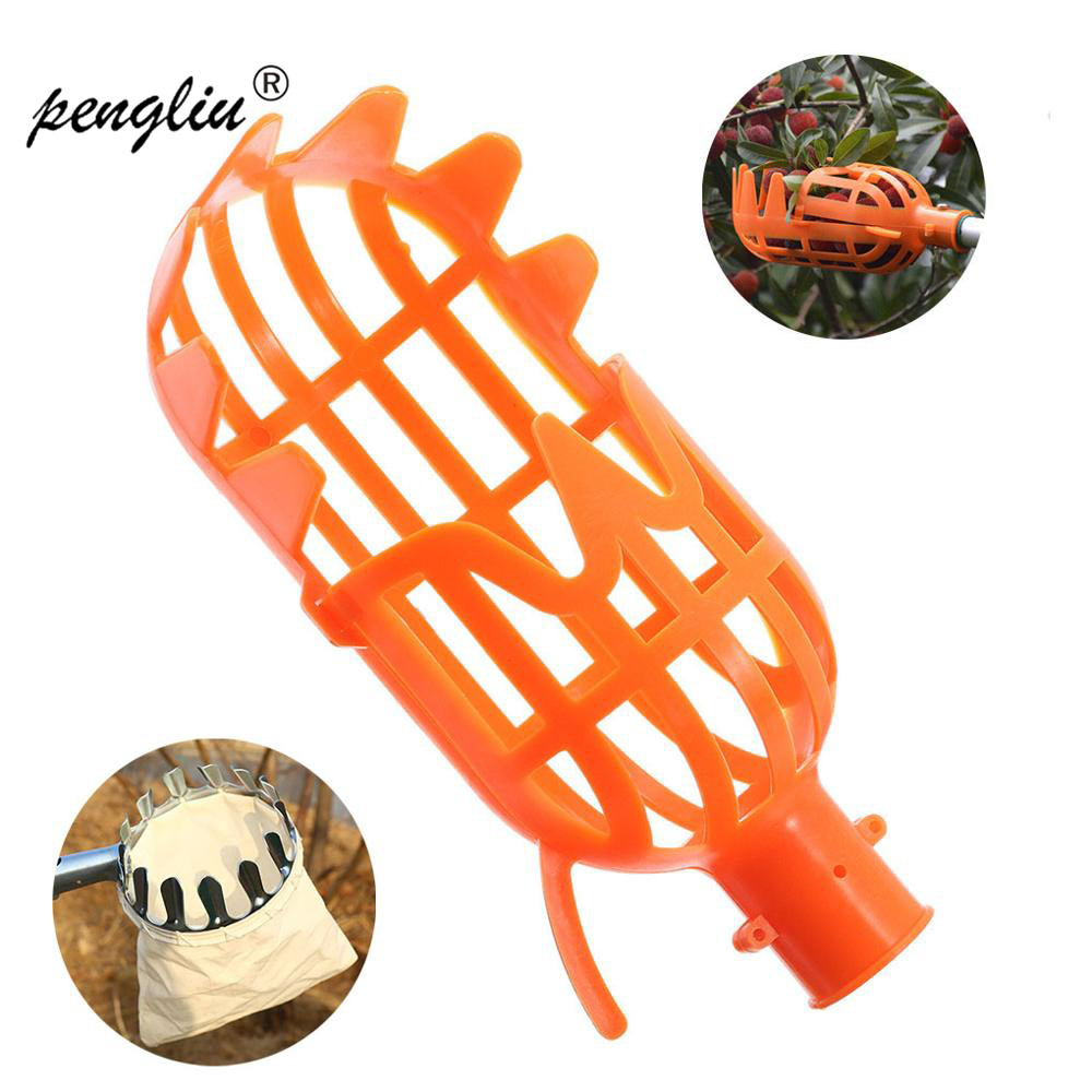 1PCS Garden Tools Fruit Picker Catcher Plastic Fruit Picking Tool Without Pole Apple Pear Peach Picker Catcher Garden Tool