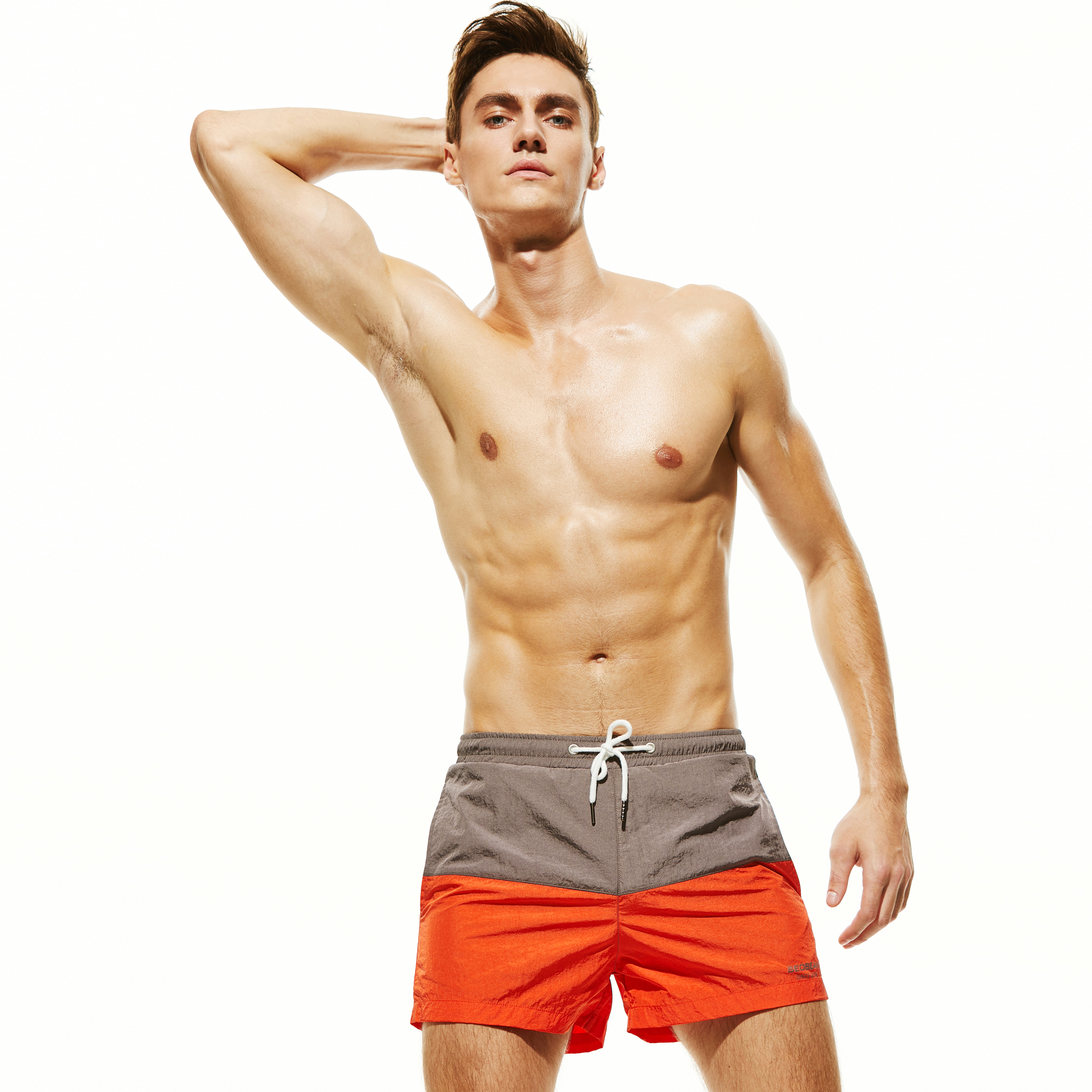 New Brand Swimsuit Men's Swimming Trunks Quick Dry Surf Beach Shorts Sport Swimwear Men Boardshorts Man Gym Bermuda Shorts