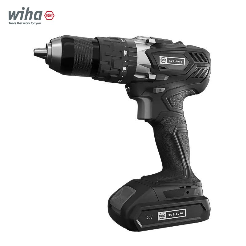 Wiha Zu Hause 3 In 1 Cordless Impact Electric Drill Driver 18+1 40NM Li-ion Battery Electric Screw Driver With 2 Speed Power