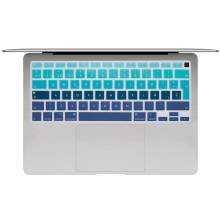 Espanhol cor do portátil silicone teclado capa para macbook air 13 a2179 película protetora caso teclado para apple air13 2020 novo